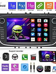 abordables -16g 32g android 7 pouces voiture dvd mp5 lecteur pour ford focus mondeo galaxy avec radio stéréo gps navigation voiture multimédia à écran tactile lecteur mp3
