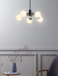 cheap -5-Light 52 cm Chandelier Metal Glass Industrial Painted Finishes Retro Vintage Country 110-120V 220-240V