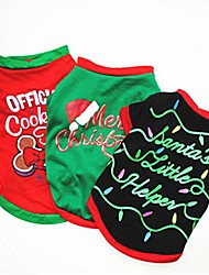 cheap -pet christmas shirts clothes dog t-shirt large colorful