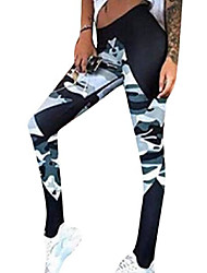 cheap -women camo print legging stretch yoga leggings pants as picture xs