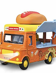 cheap -alloy toy cars - creative decorative models of car food trucks with sound and light, for children girls and boys.(orange)