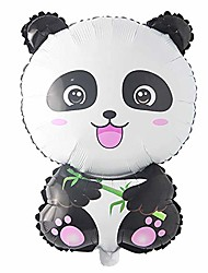 cheap -cartoon panda foil balloons china national treasure happy birthday party decor bear animal kids air balloon globos helium ball (panda)