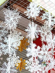 cheap -30Pcs Christmas Snow flakes White Snowflake Ornaments Holiday Christmas Tree Decortion Festival Party