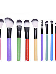 cheap -10 Pcs Makeup Brush Set Cosmetic Makeup Tools Professional Makeup Brush For Beginner