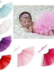 cheap -2pcs Toddler / Infant Girls' Sweet Solid Colored Hair Accessories White / Purple / Red