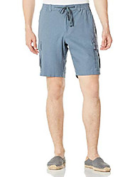 "cheap -men's 9.5"" inseam cargo shorts blue grey 36"
