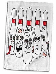 """cheap -funny extreme bowling savage ball sports design towel, 15"""" x 22"""""""