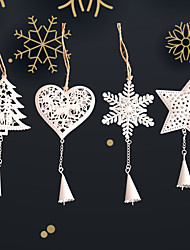 cheap -Christmas Toys Christmas Decorations Christmas Tree Ornaments Snowflake Bell Merry Christmas Party Favor Aluminium Alloy 6 pcs Adults Kids 10*10cm Christmas Party Favors Supplies