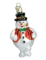 cheap -snowman assortment glass blown ornaments for christmas tree mr. frosty