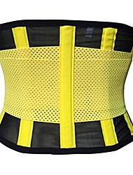 cheap -Corset Women's Plus Size Sport Tummy Control Adjustable Solid Color Hook and Loop Spandex Polyester Running Gym Walking Driving Fall Winter Spring Summer Light Pink Blue Yellow