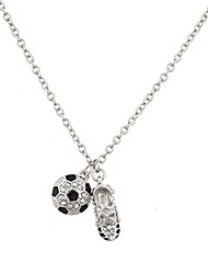 cheap -soccer ball and sneaker sports charm necklace