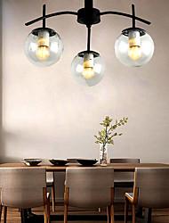 cheap -3-Light 50 cm Flush Mount Lights Metal Glass Industrial Painted Finishes Nordic Style 110-120V 220-240V E26 E27