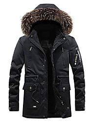 cheap -Men's Coat Regular Solid Color Daily Wear Natural yellow Black khaki Army Green L XL XXL XXXL
