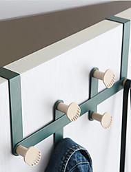 cheap -Modern Door Hook Organizer Rack, Clothes Hanger, Coat Hook, Use in Bathroom and Bedroom, 6 Hooks