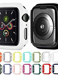 cheap -matte hard pc case compatible with apple watch series 3/2/1 lightweight thin protective bumper cover for iwatch white 38mm