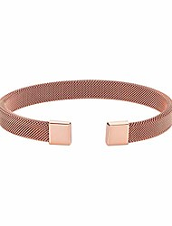cheap -caterina jewelry men's stainless steel mesh bracelet, rose