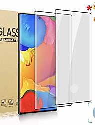 cheap -galaxy note 10 (6.3 inch) hd screen protector, [2 pack] [3d full coverage] [designed for fingerprint unlock] tempered glass film for samsung galaxy note 10