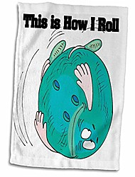 cheap -3d rose this is how i roll bowling ball bowlers design hand/sports towel, 15 x 22