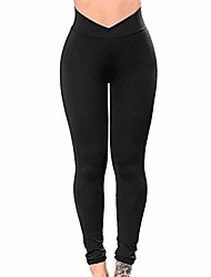 cheap -push up leggings,women's solid workout fitness leggings sports running athletic yoga pants tights (x-large, black)