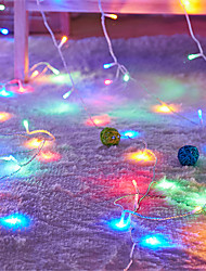 cheap -10m String Lights 100 LEDs 4mm 1 set White Warm Yellow Valentine's Day Christmas Waterproof Party Wedding 24 V
