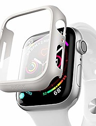 cheap -Case with screen protector  For iWatch Apple Watch Series SE / 6/5/4/3/2/1  44mm 40mm 38mm 42mm slim guard thin bumper full coverage matte hard cover defense edge for women men iwatch (white)