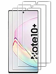 cheap -[3 pack]  compatible samsung galaxy note 10 plus/note 10+ screen protector, [with in-display fingerprint sensor] hd [touch sensitive] [tpu film] with lifetime replacement warranty