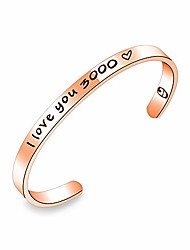 cheap -i love you 3000 cuff bangle bracelet for women girls inspirational iron man gift comic movie inspired gift card avengers endgame avengers fan gift tony stark thanksgiving gift