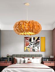 cheap -50/60/70 cm LED Ceiling Light Romantic Feather Design White Pink Gray Dark Yellow Bedroom Living Room Dining Room Restaurant Girls and Children Room AC110V AC220V