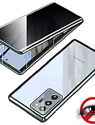 cheap -anti peeping galaxy note 20 ultra clear case built in privacy screen protector, magnetic metal frame +tempered glass protective cover for samsung galaxy note 20 ultra 5g 6.9 inch (light green)