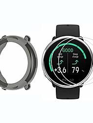 cheap -compatible with polar ignite case,  silicone case with screen protector (2 pack) compatible with polar ignite smartwatch (black case+screen protector)