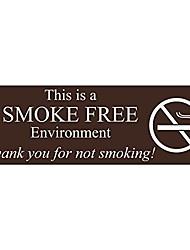 Недорогие -это дверной / настенный знак, запрещающий курение - темно-коричневый - средний