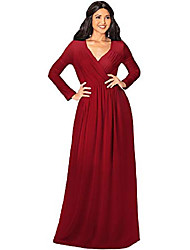 cheap -plus size womens long sleeve sleeves empire waist floor-length cocktail elegant evening fall modest winter formal abaya cute gown gowns maxi dress dresses, crimson dark red 2xl 18-20