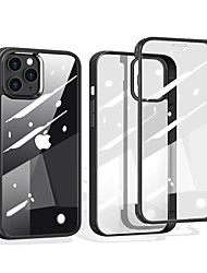 cheap -Phone Case For Apple Full Body Case Bumper iPhone 12 Pro Max 11 Pro Max Shockproof Transparent Transparent Silicone Silica Gel Tempered Glass