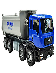 cheap -1:50 scale alloy diecast construction models vehicles toys moveable tip lorry dump truck for kid red