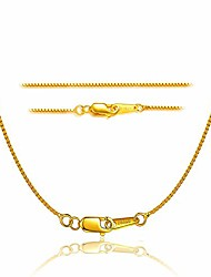 cheap -18k gold plated sterling silver chain for necklace women girl italy silver chain necklace 0.8mm 925 sterling box chain - 16/18/20/22/24 inch