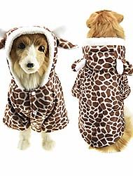 cheap -halloween dog shark costume outfits for large dog winter fleece puppy jacket coat hoodie funny dog clothes golden retriever (5xl, brown giraffe)