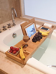 cheap -Bath Caddies Bathtub Rack Bamboo Wood for Bathroom Storage Bamboo Telescopic Non-slip Bathroom Multifunctional Bathtub Shelf Bathroom Spa Bathing Shelf