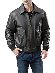 cheap -men's air force g-2 leather flight bomber jacket tall xx-large tall black