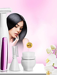 cheap -Customized Facial Cleaner For Ladies Three-In-One Multi-Function Shaving Knife Facial Brush And Eyebrow Trimmer