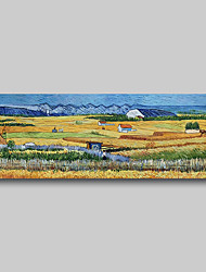 cheap -Hand Painted Van Gogh Museum Quality Oil Painting - Abstract Landscape Farm Harvest Modern Large Rolled Canvas