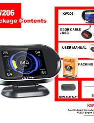 cheap -KONNWEI KW206 Hud Head-Up Display 12V Auto-Styling Hud Display Overspeed Speedometer Boost Gauge OBD2 Car Fault Scanner Code reader