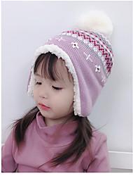 cheap -1pcs Kids / Toddler Girls' Active / Sweet Floral Acrylic Hats & Caps Purple S / M / L