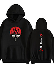 cheap -Inspired by Naruto Uzumaki Naruto Cosplay Costume Hoodie Polyester / Cotton Blend Graphic Printing Hoodie For Women's / Men's
