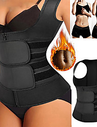 cheap -Waist Trainer Vest Body Shaper Sweat Waist Trainer Corset Sports Spandex Yoga Gym Workout Pilates Adjustable Weight Loss Tummy Fat Burner Hot Sweat For Men Women / Adults'