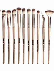 cheap -makeup brushes, 12 pieces professional eye make-up brushes, eyeshadow, concealer, eyebrow, foundation, blending make up brush set