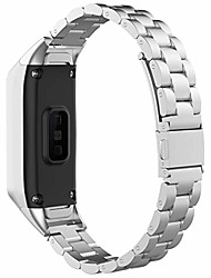 cheap -compatible with samsung galaxy fit sm-r370 bands, galaxy fit watch band solid adjustable stainless steel metal replacement bands bracelet straps wristbands for galaxy fit sm-r370 (silver)