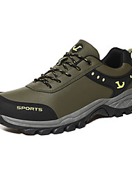 cheap -Men's Trainers Athletic Shoes Daily Outdoor Walking Shoes PU Non-slipping Army Green Gray Black Fall Spring