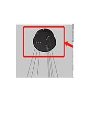 cheap -Black Iron 1pc Base of Pendant Light