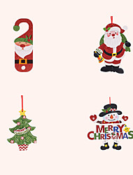cheap -Christmas Toys Christmas Decorations Christmas Tree Ornaments Santa Claus Reindeer Merry Christmas Waterproof Removable Party Favor PVC 6 pcs Kid's Adults 30*30cm Christmas Party Favors Supplies