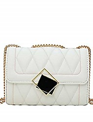 cheap -women handbag small quilted pu leather shoulder bag - evening party crossbody bag - white